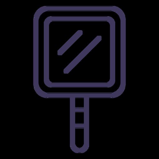 Square mirror icon