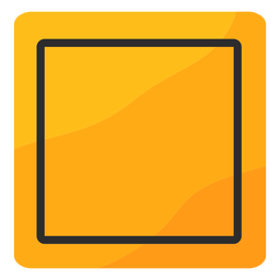 Square traffic sign flat