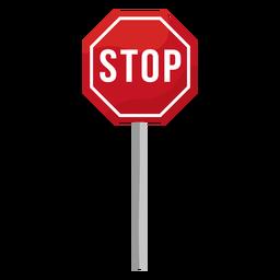 Señal de stop plana