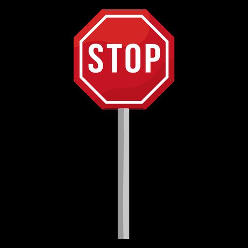 Stop sign flat