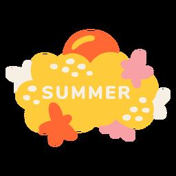 Etiqueta de playa de verano