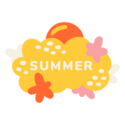 Rótulo de praia verão