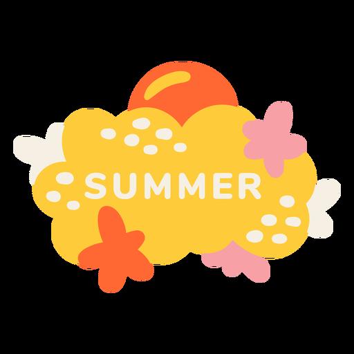 Summer beach label