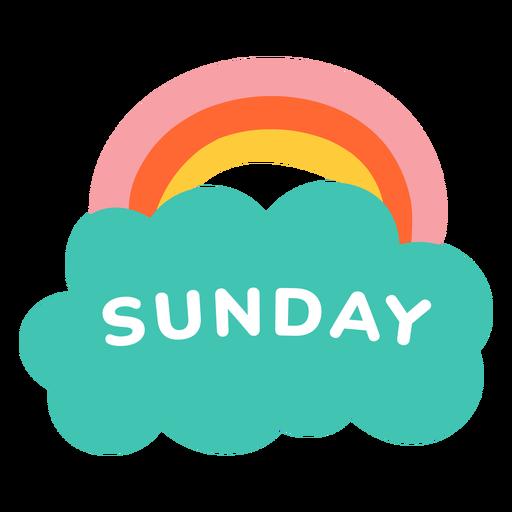 Etiqueta de arco iris de domingo