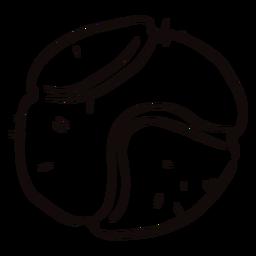 Doodle de pelota de tenis