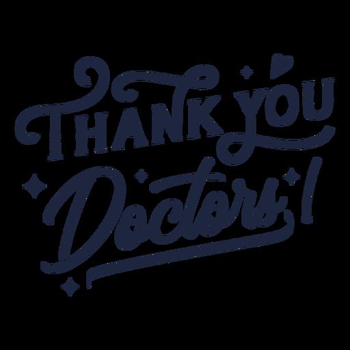 Gracias doctores letras