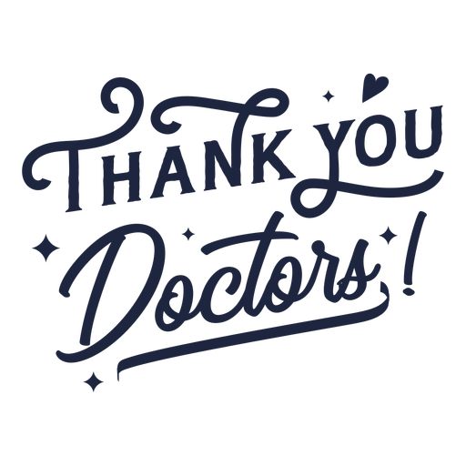 Thank you doctors lettering