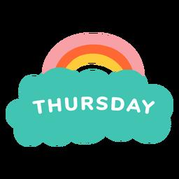 Jueves etiqueta arcoiris