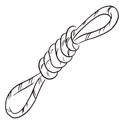 Doodle de corda amarrada