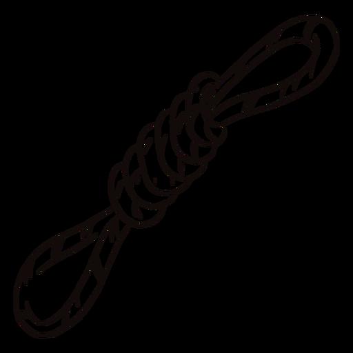 Doodle de cuerda atada