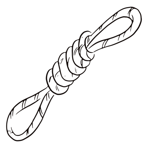 Tied rope doodle