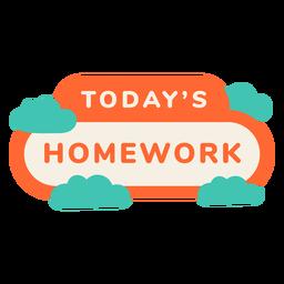 Todays homework label