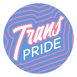 Trans pride badge
