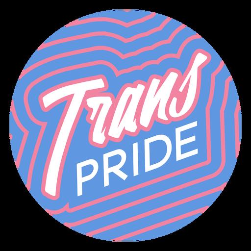 Trans pride badge Transparent PNG