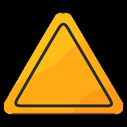 Señal de tráfico triangular plana