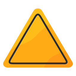 Triangle traffic sign flat