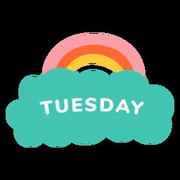 Etiqueta arco-íris de terça-feira