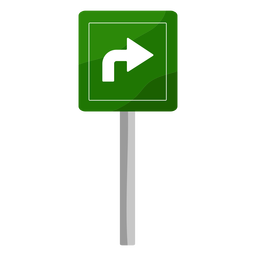 Gire a la derecha plana