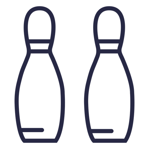Two bowling pins alligned icon