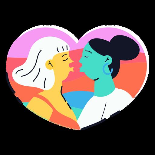Adesivo de duas garotas se beijando