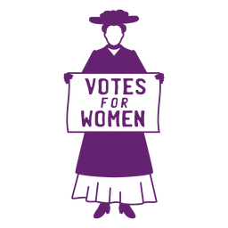 Vote for women flat