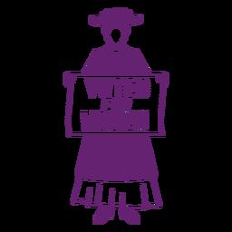 Vote por las mujeres planas