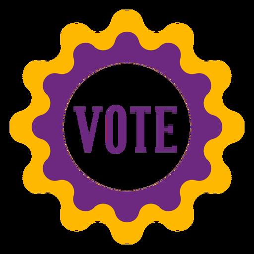 Votar insignia violeta y amarilla