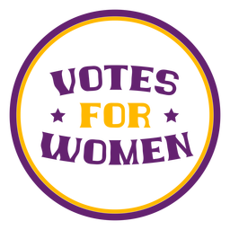 Votes for women badge votes