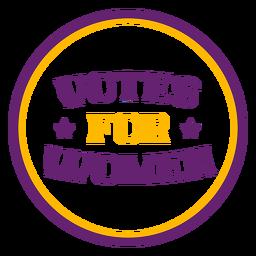 Votos para mulheres distintivos