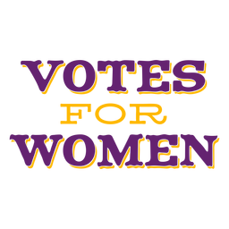 Votes for women lettering votes