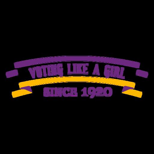 Votando como una niña escribiendo