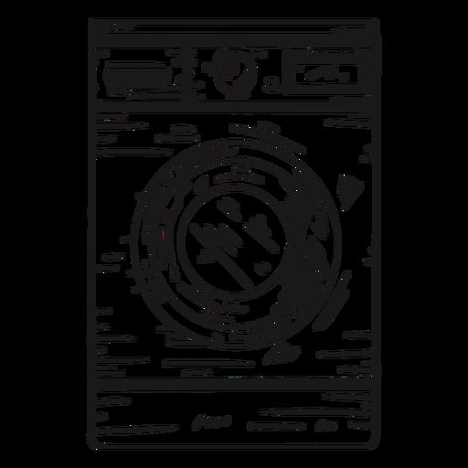 Dibujado a mano detallada lavadora