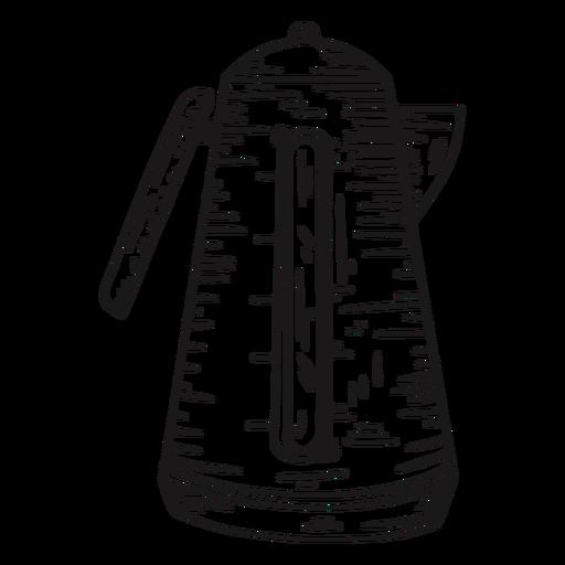 Calentador de agua detallado dibujado a mano