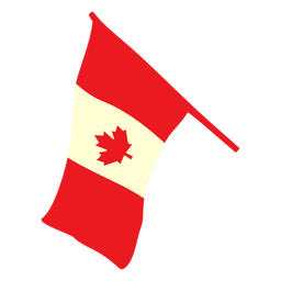 Ondeando la bandera de Canadá plana
