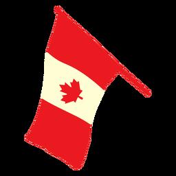 Waving canada flag flat