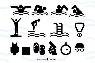 Paquete de iconos de eventos de natación