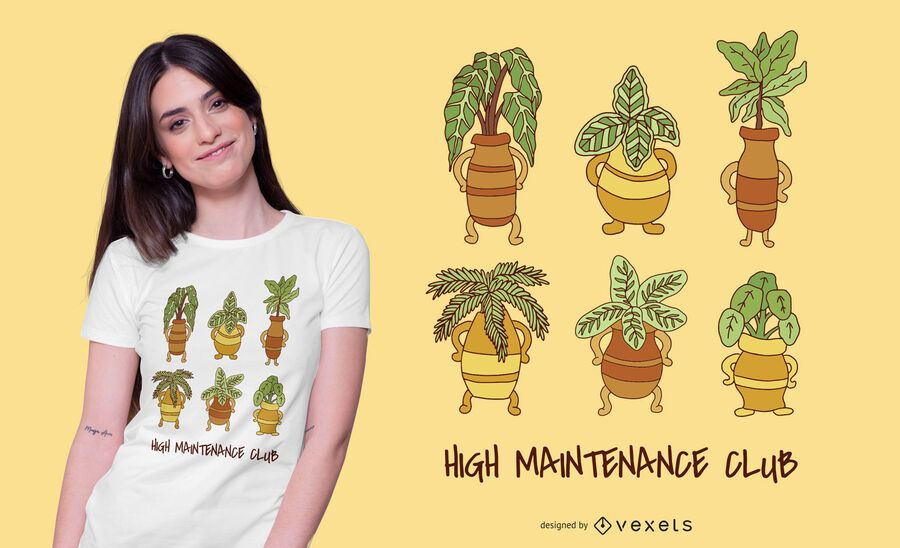 High maintenance club t-shirt design