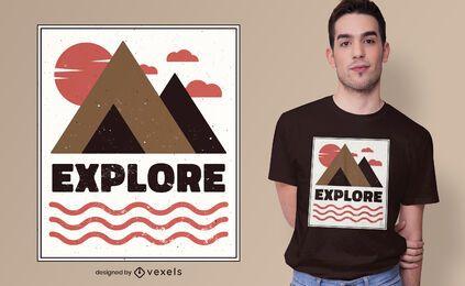 Explore o design da camiseta