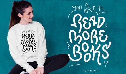 Leer más libros diseño de camiseta