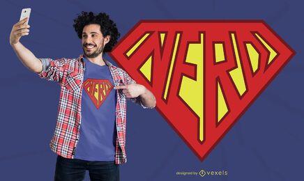 Design de camiseta super nerd