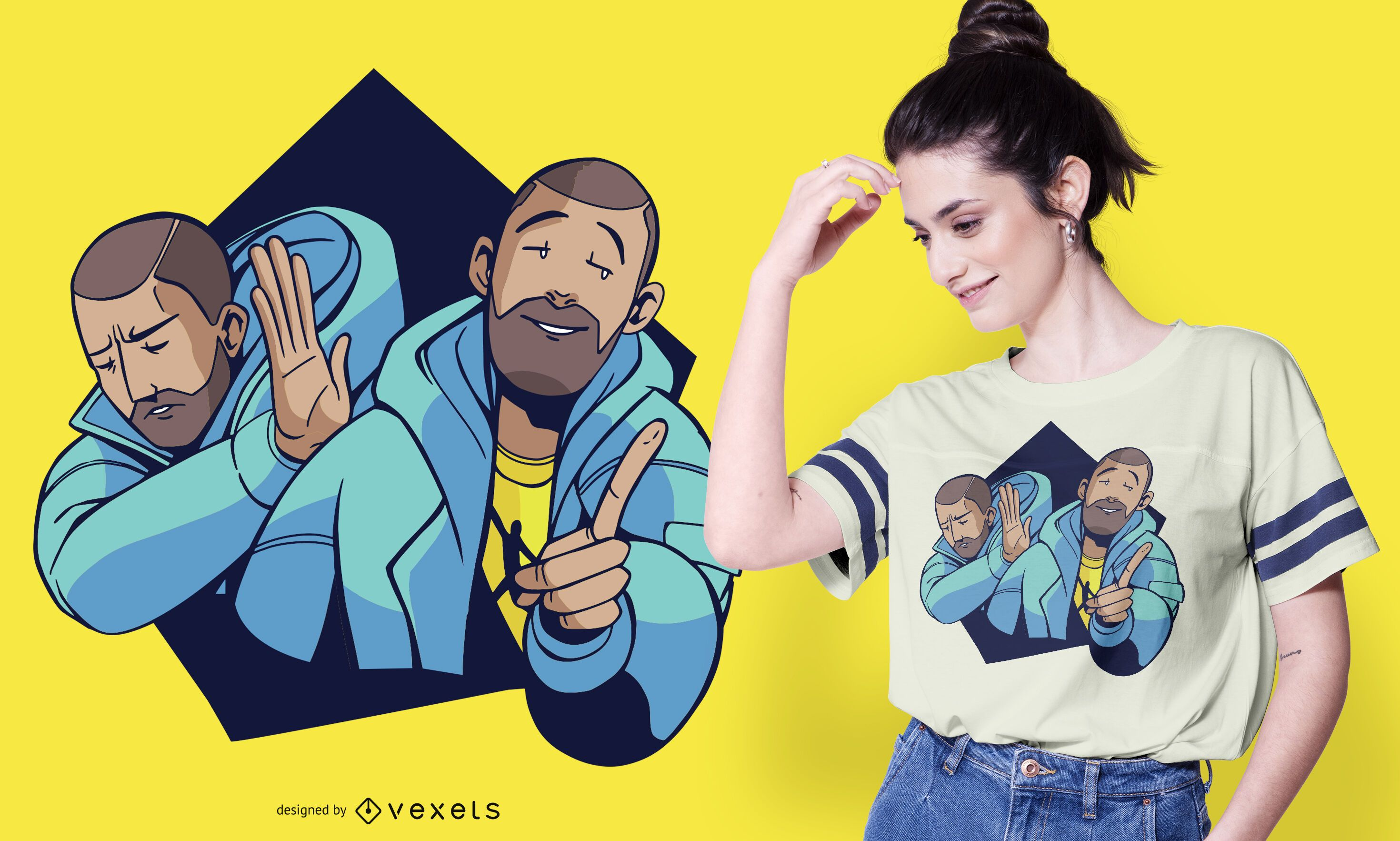 Diseño de camiseta hotline dance meme