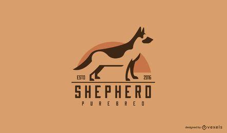 Diseño de logotipo de pastor alemán