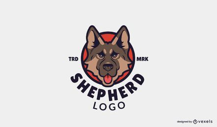 German shepherd logo template