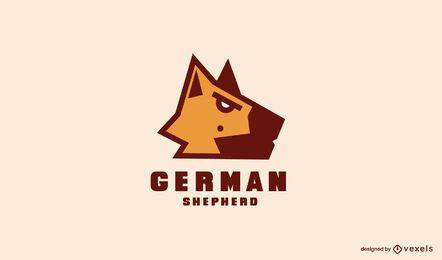 Design de modelo de logotipo de pastor alemão