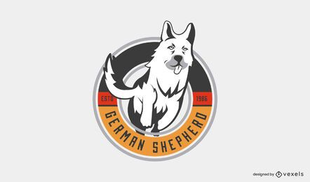 German shepherd dog logo template