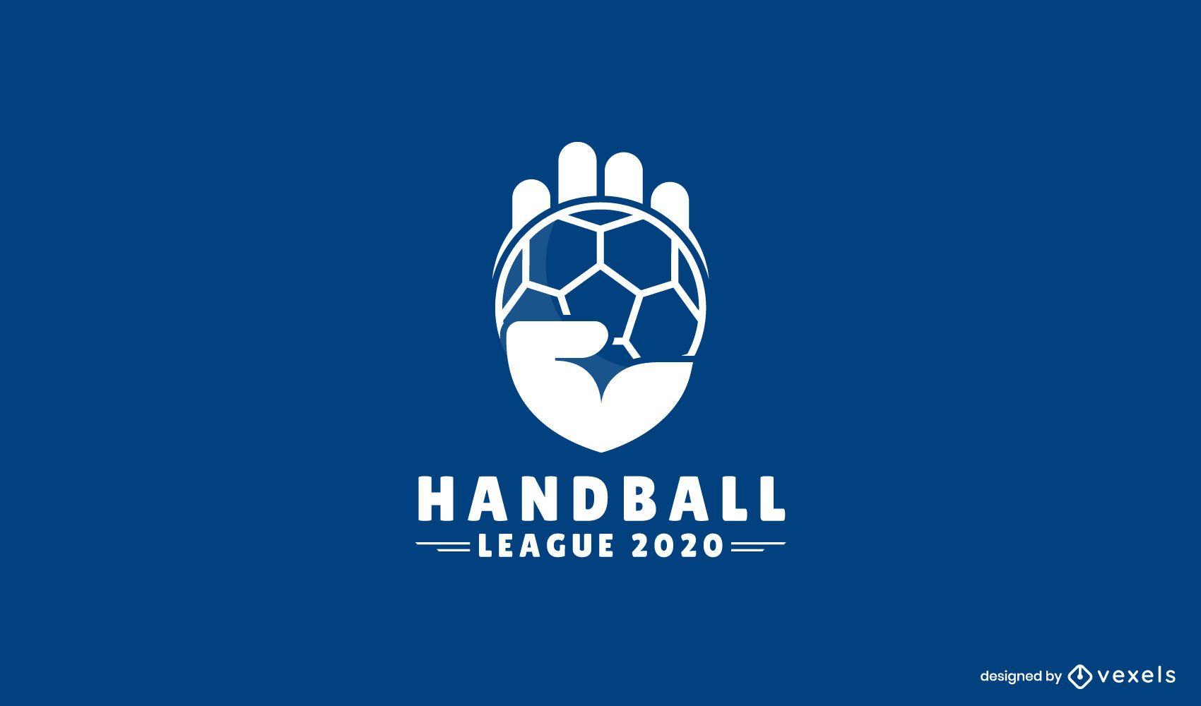 Design de logotipo da liga de handebol