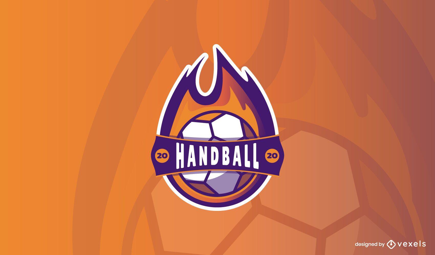 Modelo de design de logotipo de handebol