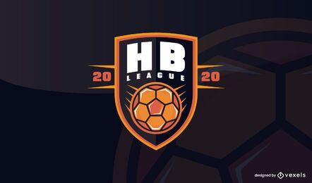 Design de modelo de logotipo de liga de handebol