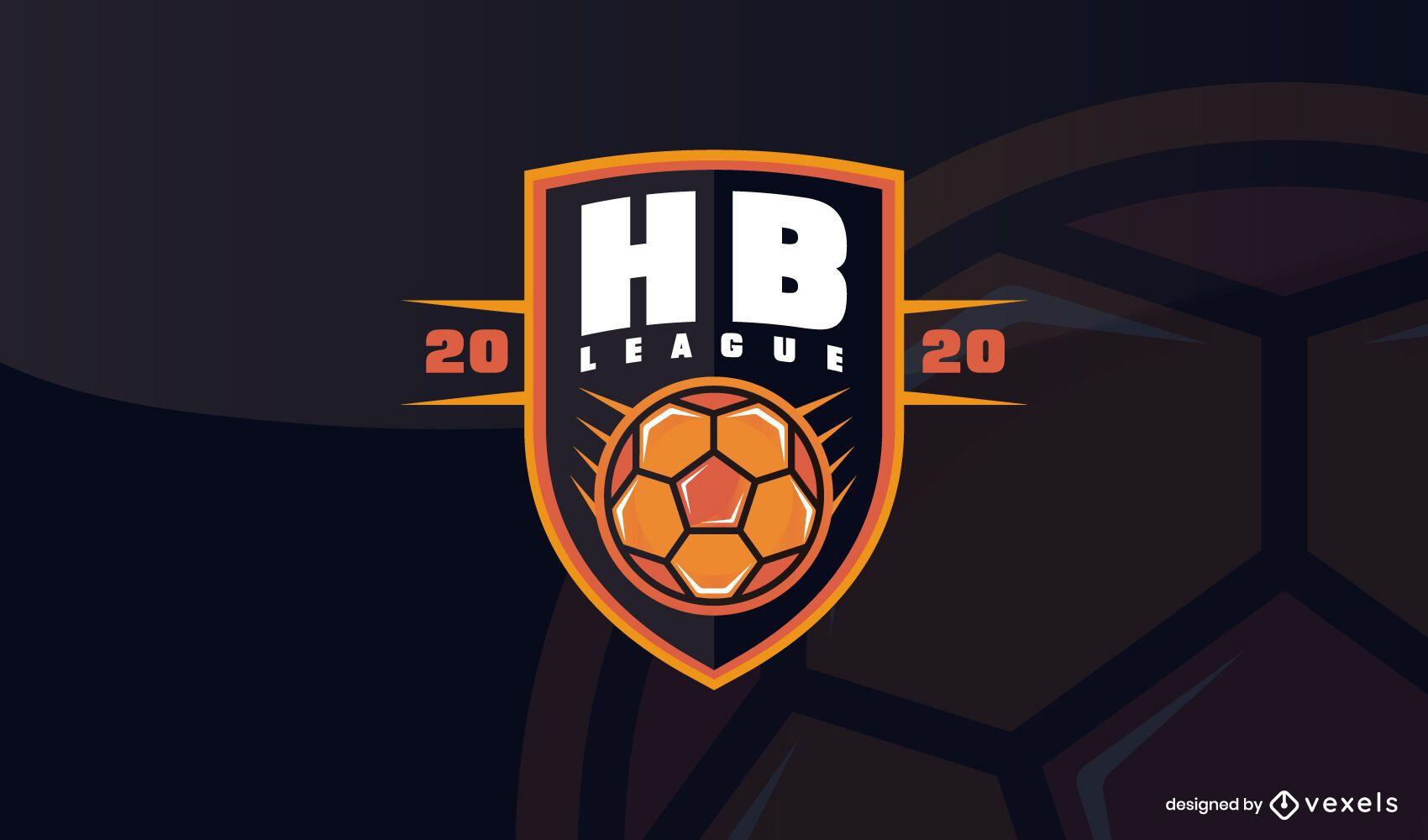 Modelo de design de logotipo da liga de handebol