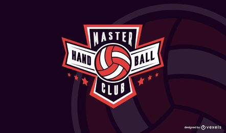 Handball club logo template